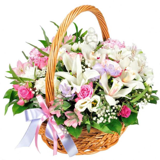 """Цветы в корзинке """"Симпатия"""""""